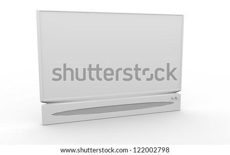 TV desaturated - stock photo