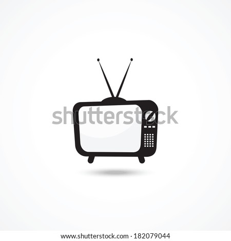 TV icon - stock photo