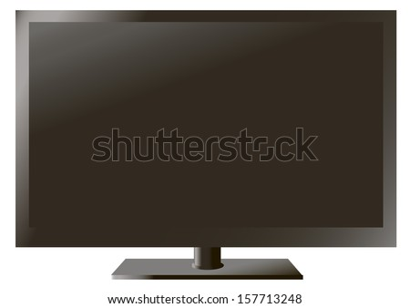 TV isolated on a white background