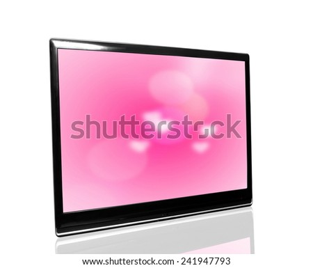 tv monitor over white surface