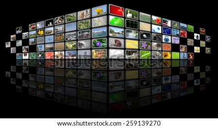 tv news media background - stock photo