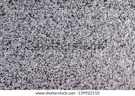 TV noise from a real television - stock photo