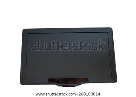 TV on a white background - stock photo