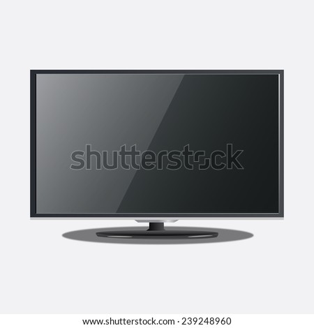 Tv on the white background