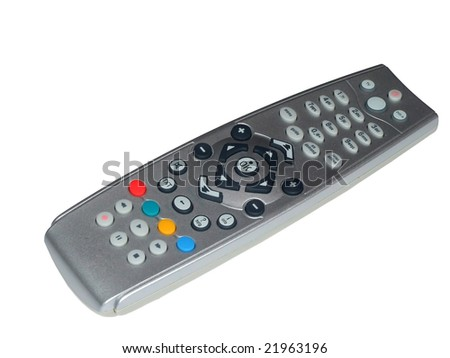 Tv pilot isolated on white, with clipping path - stock photo
