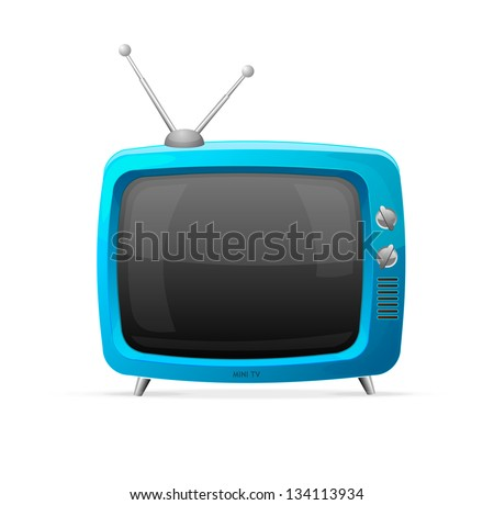 Tv raster cartoon style