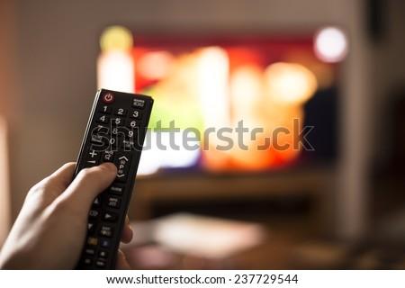 Tv remote control. - stock photo