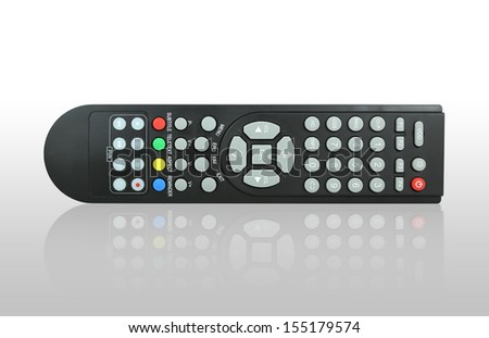 TV remote control with shadow - stock photo