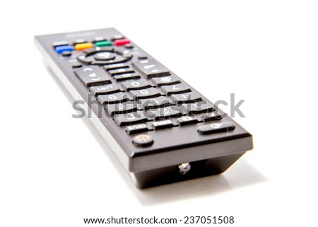 TV Remote Controller on white background
