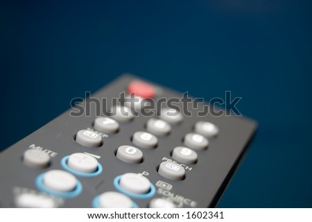 TV Remote Shallow depth of field Focus on 0 button