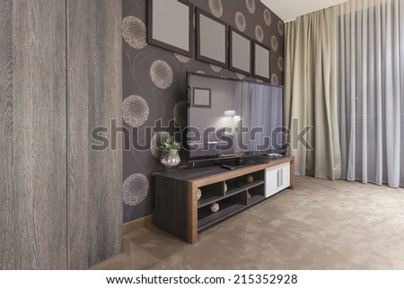 TV set in modern living room