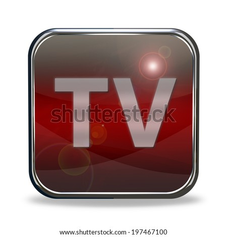 TV square icon on white background