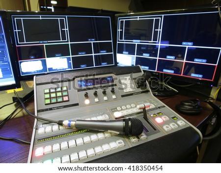 tv studio - stock photo
