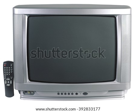 tv television screen old room living home technology vintage view
