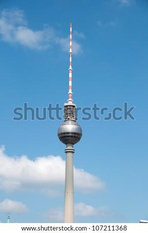 TV tower in Berlin - stock photo