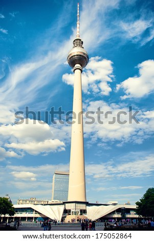 TV tower in Berlin, Germany - stock photo