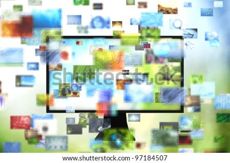 Tv with images