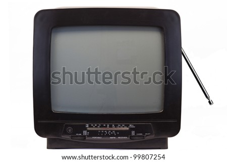 TV with Receiver from the nineties - stock photo