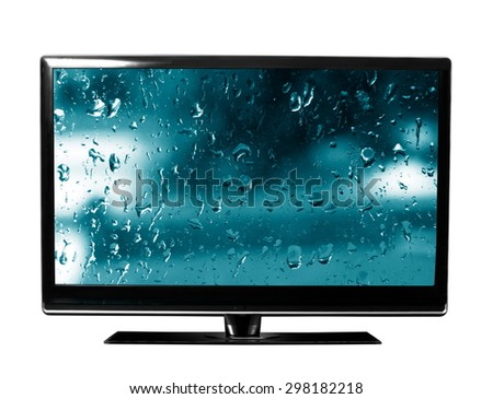 tv with the drops view - stock photo