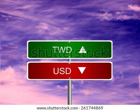 Twd Usd Taiwan Taiwanese Us Dollar Stock Photo Royalty Free