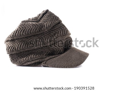 Tweed News Boy hat style Isolated on a White Background - stock photo