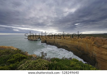 Twelve apostles at the Great Ocean Road, Port Campbell National Park, Victoria, Australia.
