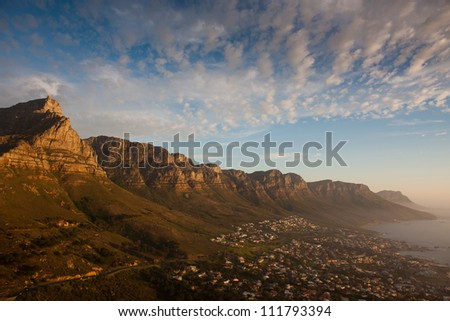 Twelve Apostles, Cape Town, South Africa - stock photo
