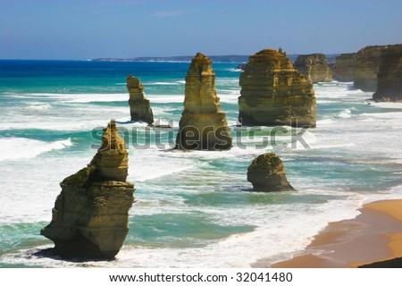 Twelve Apostles, Great Ocean Road, Australia - stock photo