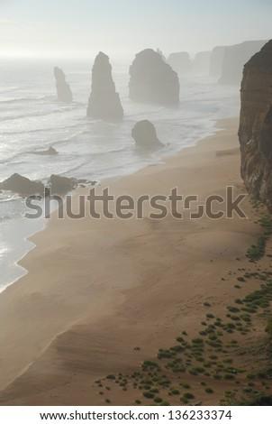 Twelve Apostles in Victoria, Australia - stock photo