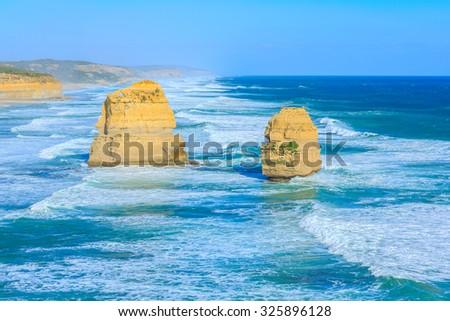 twelve apostles, port Campbell, victoria, Australia - stock photo