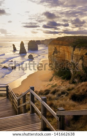 Twelve Apostles Rocks - Australia - stock photo