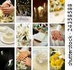 twelve small wedding images ideal for website design - stock photo