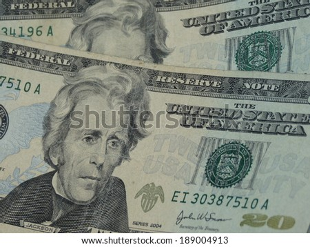 twenty dollar bill useful as money concept