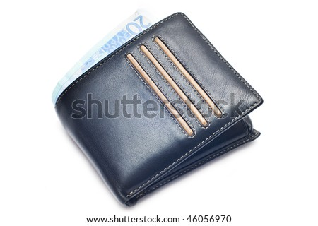 twenty euro in the wallet - stock photo