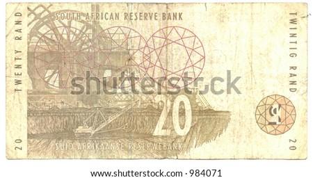 Twenty South African Rand - stock photo