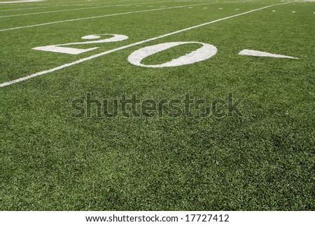 Twenty yard line - stock photo