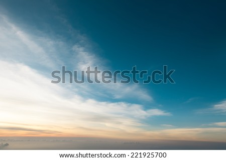 Twilight above cloud cape