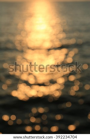 Twilight ocean bokeh - stock photo