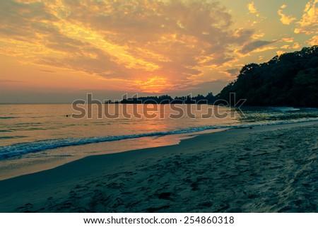 twilight sea - stock photo