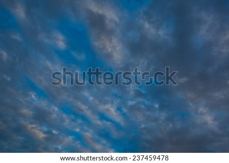 Twilight sky and sky