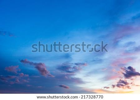 twilight sky at the park - stock photo