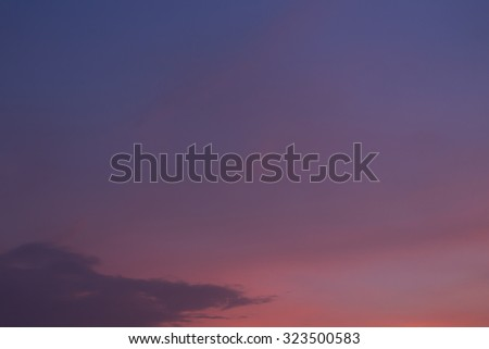 twilight sky background, blue sunset sky with cloud