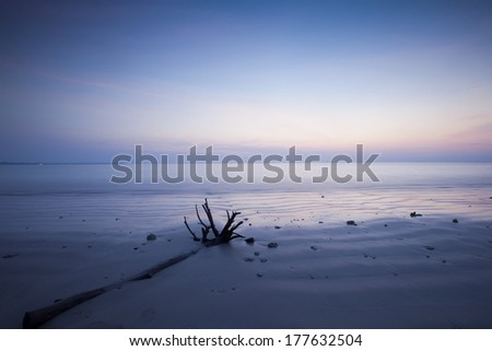 Twilight sky on the sea  - stock photo