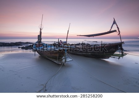 twin boats - stock photo