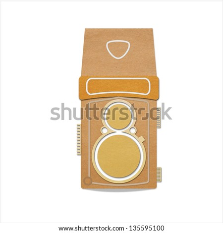 Twin lens a retro camera - stock photo