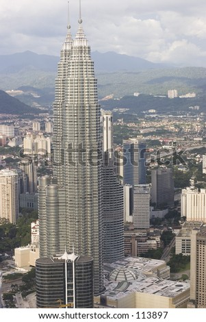 Twin Towers - stock photo