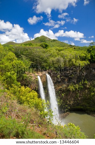 Twin Waterfalls - stock photo