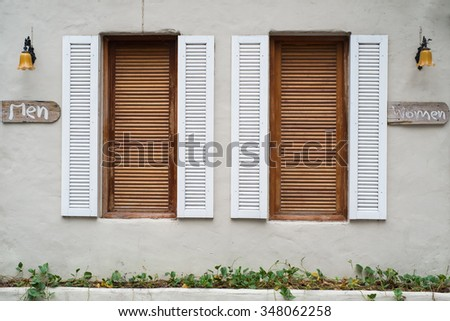 Twin wooden window