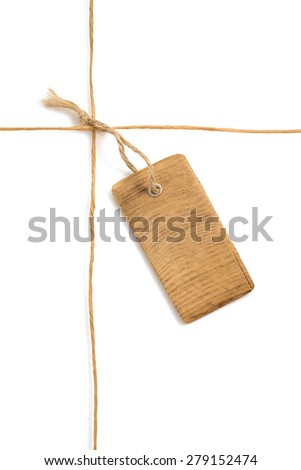 twine cord isolated on white background - stock photo