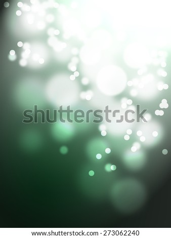 twinkle bokeh on green shade background - stock photo
